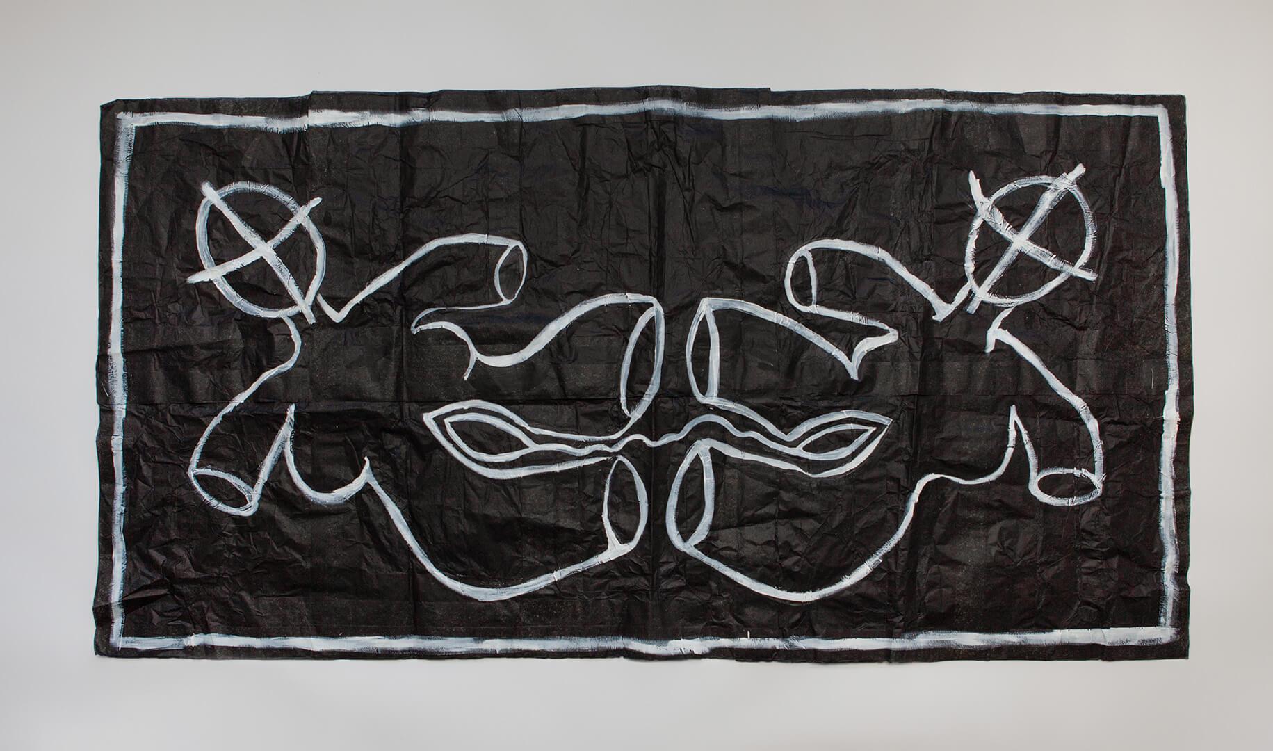 United #1, 85x180cm, Acrylic on Handmade Japanese Washi Paper